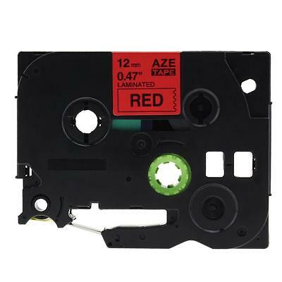 Label Tape Compatible for Brother TZ-431 Tze-431 P-Touch Laminated Black on Red