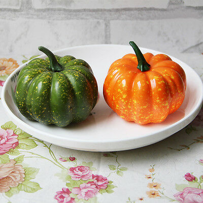 1pc Artificial Lifelike Simulation Fake Mini Pumpkins Vegetable Home Decor CC