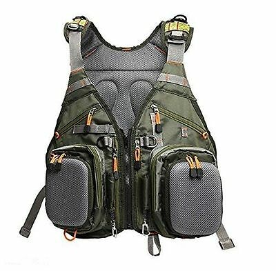 New!!! Fly Fishing Backpack Adjustable Size Mesh Fishing Vest Pack-AM