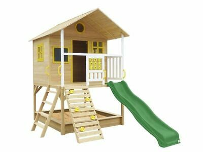 Lifespan Kids Warrigal Cubby House With Slide And Sandpit Backyard Green