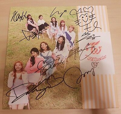 Twice all members signed TWICEcoaster:LANE1 with TzuYu CDcover no photo card