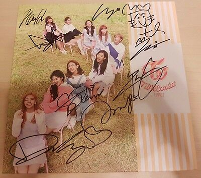 Twice all members signed TWICEcoaster:LANE1 with MOMO CDcover no photo card