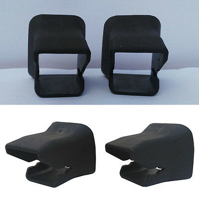 Baby Buckle Child Seat Black 2pcs Groove Fixed Safety Guide ISOFIX Universal Car