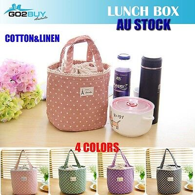 Girls Portable Insulated Cooler Thermal Lunch Bag Box Tote Container Storage