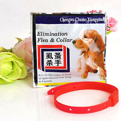 New Dog Cat Pet Flea Against Tick Anti Pet Protect Collar Repel Rubber Necklace