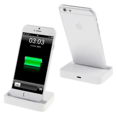 smartphone apple iphone 5 5c 5s 6 7 ladeger t ladestation station weiss schwarz eur 4 95. Black Bedroom Furniture Sets. Home Design Ideas