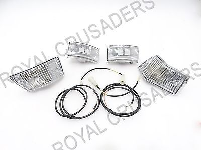 New Vespa Px Lml V5600 Front & Rear Indicator Set With Wiring #vp79 (Code-6168)