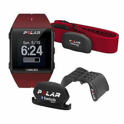 Red Javier Gomez Polar V800 GPS Heart Rate Monitor HRM H7 Running Sports Watch