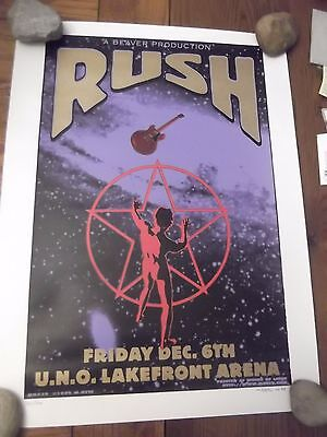 RUSH  POSTER, by M.GETZ MG38 1996 SIGNED & NUMBERED 18x24
