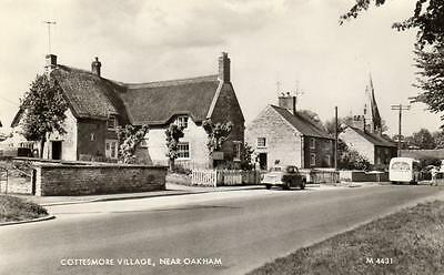 Cottesmore Village Nr Oakham  deckle edge RP old pc  used 1964 Valentines