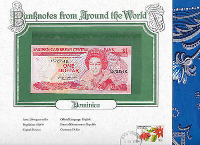 World Banknotes Dominica East Caribbean States 1 Dollar 1985 AUNC P17b