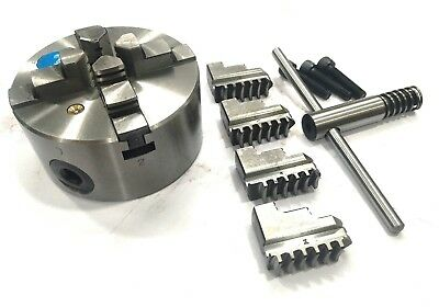 100 mm-3 Jaws Self Centering chuck+ set of Reversible Jaws lathe & Rotary Table