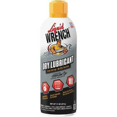 Liquid Wrench Multi Purpose Long Lasting Dry Lubricant w/ Cerflon 11 Oz L512