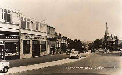 Leicester Road Oadby Nr Leicester unused RP old pc Midland View