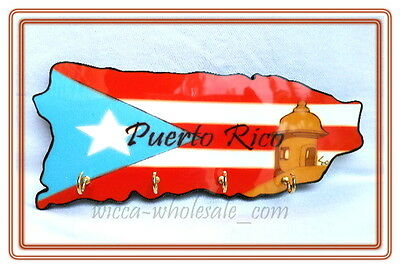 Puerto Rico Home Decorative Souvenirs Keychain Wall Holder KEY Rican Boricua PR