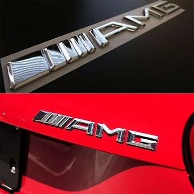 AMG Glass Rear Letters 3D Emblem Badge Logo For Mercedes-Benz C CL CLS E S SL