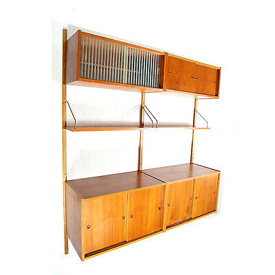 Retro Vintage Danish Teak Wall Shelving Unit PS System Bookcase Shelves 60s 70s