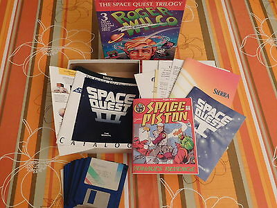Vintage DOS 3.5'' floppy PC game : The Space Quest Trilogy -Exc-