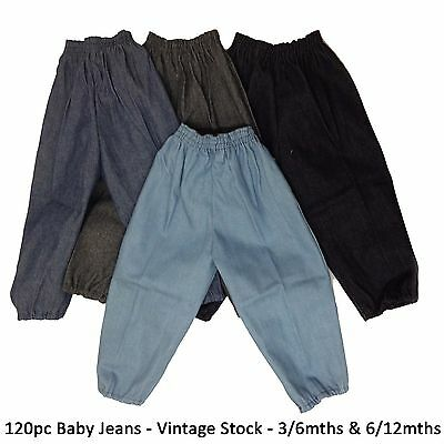 120 Wholesale Job Lot Baby Jeans Vintage Stock Clearance 3/6 6/12 Months New Boy