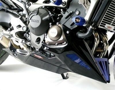 Yamaha MT-09 & FZ-09 2014-2016 Belly Pan Carbon Look with Blue Mesh