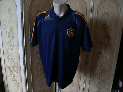 LA Galaxy MLS polo shirt adidas size 48/50 clima 365 USA soccer football top
