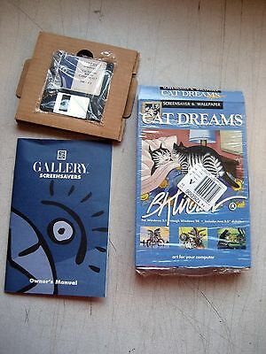 NEW Cat Dreams Screen Savers on two (2) floppy disks, retail package w/warranty