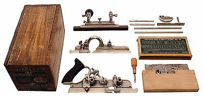 Extra Clean Stanley No. 45 Combination Plane - Orig. Chestnut Box - Complete 98%