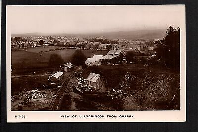 Llandrindod Wells - View from Quarry - real photographic postcard