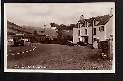 Llanrhystyd - The Square - real photographic postcard