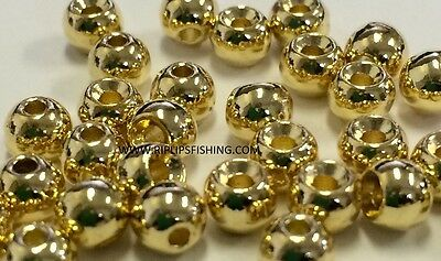 """Tungsten Fly Tying Beads Gold 2.5 Mm 3/32"""" 100 Count"""