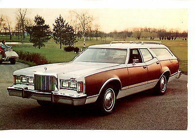 1977 Cougar Villager Station Wagon Car-Vintage Auto Advertising Dealer Postcard