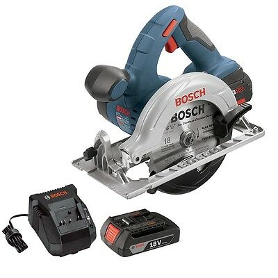 """Bosch 18V 6.5"""" Cordless Circular Saw + Battery & Charger (Certified Refurbished)"""