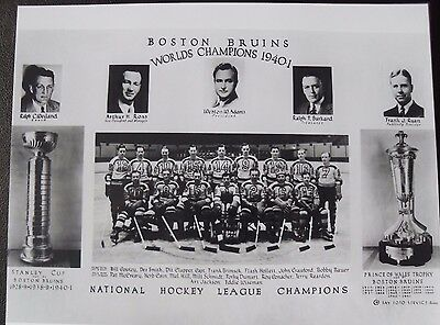 Boston Bruins Stanley Cup Champions 1940-41 Photo