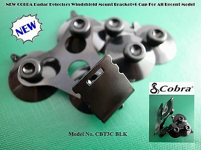 COBRA Radar Detector Windshield Mount+6 BLK Suction Cup For All Recent&OLD Model