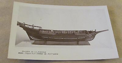 Postcard.., Old Sail & Steam Ships MODEL OF EARLY SAILING SHIP