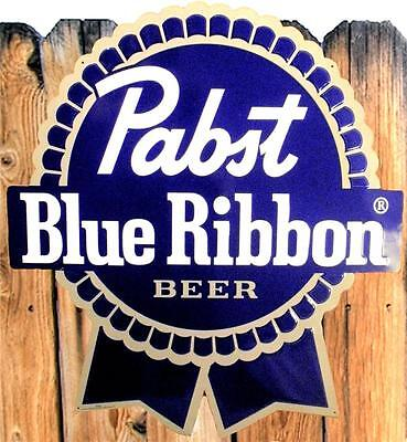 NEW RARE VINTAGE PABST BLUE RIBBON PBR BEER 24x27 METAL TIN WALL BAR SIGN