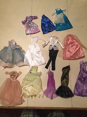 Barbie Doll And Other Miscellaneous Doll Clothes Lot Of 12