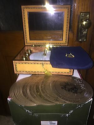 Mr Christmas Grand Bell Symphonium Music Box With 16 Discs And Key