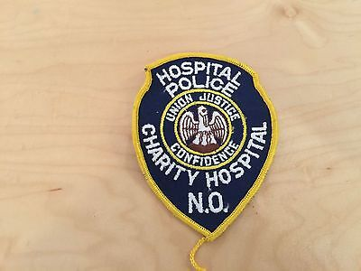 charity hospital police of new orleans, patch,new old stock, 1970's