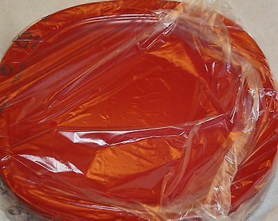 "Tupperware Set 4 Red Microwave Luncheon Plates 9 1/2"" NEW Dinner Impressions Lot"
