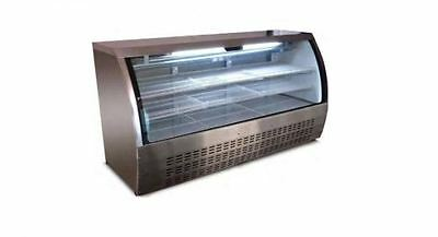 """Alamo XDC200 79"""" 32cf Curved Glass Refrigerated Bakery Deli Meat Case BRAND NEW!"""