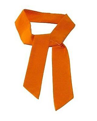 """ORANGE Neck Cooler Scarf Ice Cold Therapy Tie Bandana """"5cm x 100cm"""" STAY COOL!"""