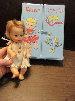 Vintage Tearie Dearie Case & Squeak Crying Baby Doll - 8W-9-1 -  by: Ideal