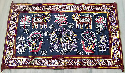 Indian Old Home Decorative Wall Hanging Vintage Handmade Embroidery Tapestry