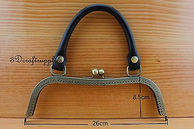 bag purse frame metal frame sewing frame clasp 10 1/4 inch anti bronze Z115