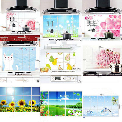 Self-adhesive Wallpaper Sticker Kitchen Cupboard Dining Oil/Lampblack Prevention