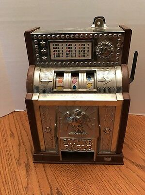 Vintage 1977 Silver Eagle 10 Cent Slot Machine - Poynter Products -Made in Japan