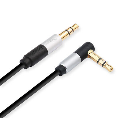 DTECH Right Angle 3.5mm Audio Cable 6 ft Male to Male Aux Plug 90 Degree Adapter