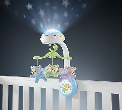 Fisher Price Mobile Butterfly Dreams Projection Musical Cot Baby Projector Toy