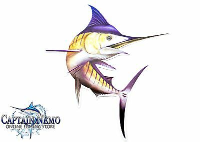 Vinyl Fishing Decal Marlin Fish Sticker Fish Decal Sailfish Boat Kayak M4771